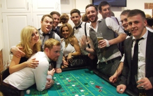 Wedding Bristol Fun Casino Hire Party Wedding Entertainment Roulette Blackjack Tables