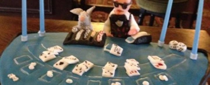 Hangover Birthday Party Cake Aces Fun Casinos James Bond Somerset Bristol Weston super Mare Taunton Fun Casino Party Hire