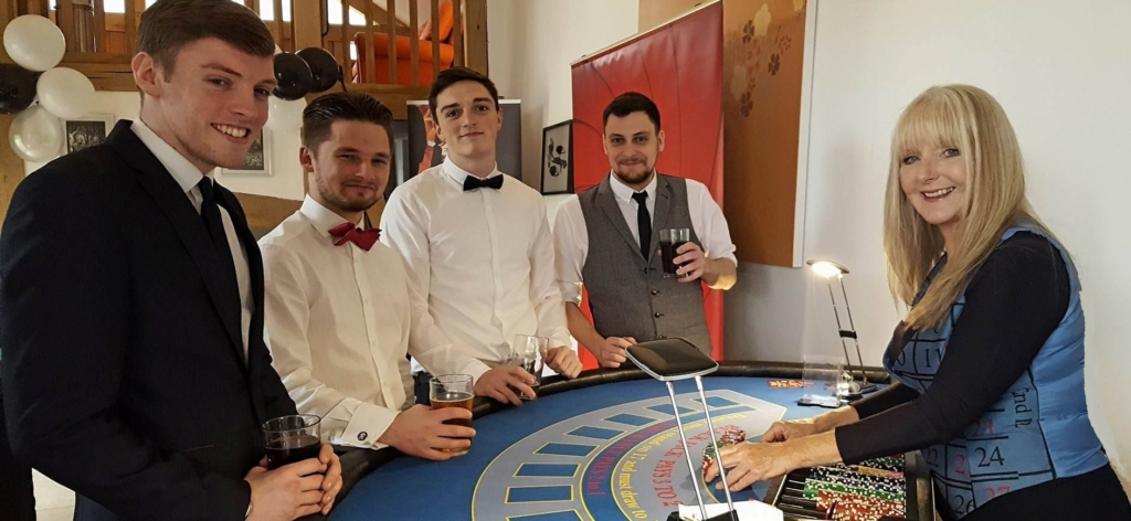 Gloucester Fun Casino Hire Mobile Roulette Blackjack Poker Tables - Croupier Banner