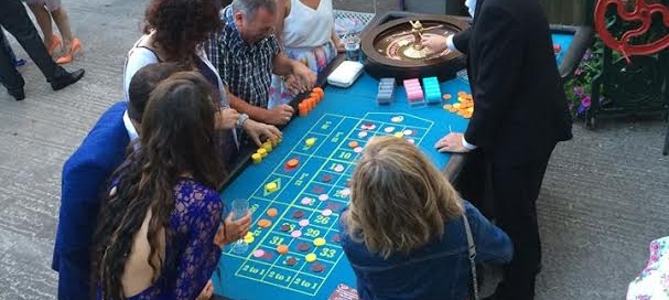 Mobile Casino Roulette Blackjack Table Hire Summer Party Al Fresco Wedding