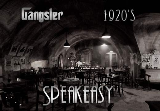 1920s speakeasy gangster theme