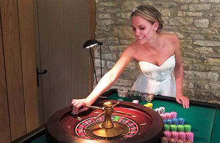 bride plays roulette
